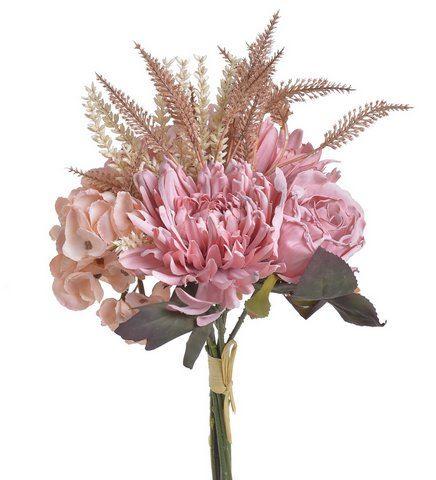 Bukiet mieszany z hortensją 38cm old pink