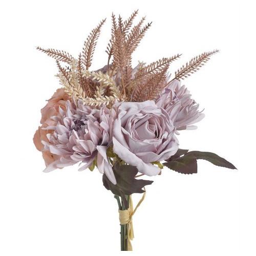 Bukiet mieszany z hortensją 38cm pink