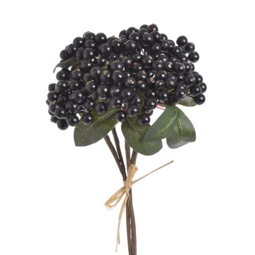 Glog pęczek x3 30cm 5szt/pecz. black burgundy
