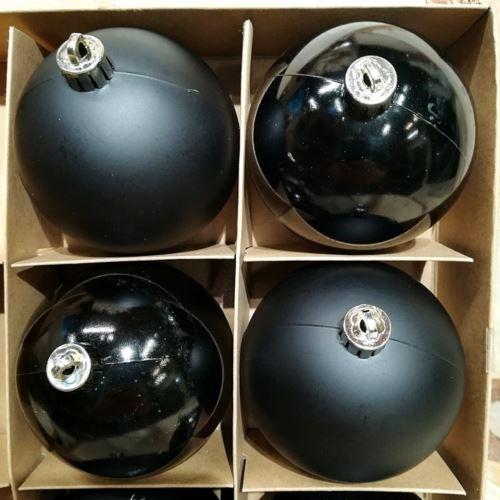Bombki 8cm w PCV, 6szt/kpl BLACK