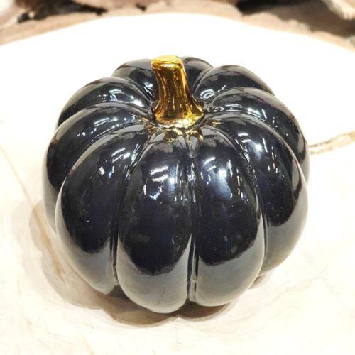 Dynia ceramiczna średnia 10CM black gold
