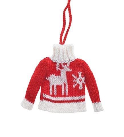 Sweter Zawieszka 104CAN217-668 czerwony renifer