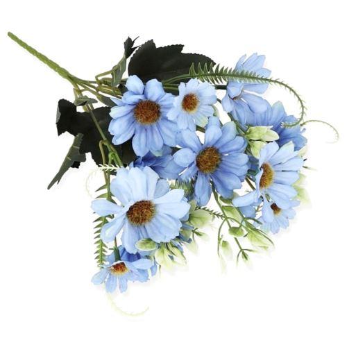 BUKIET MARGARYTKA X5 32CM /1819 BLUE LT BLUE