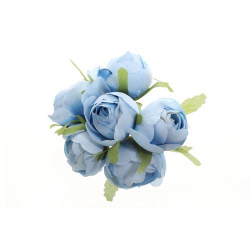 PĘCZEK KAMELKA-PEŁNIK 6 KWIATÓW 3,5CM BLUE