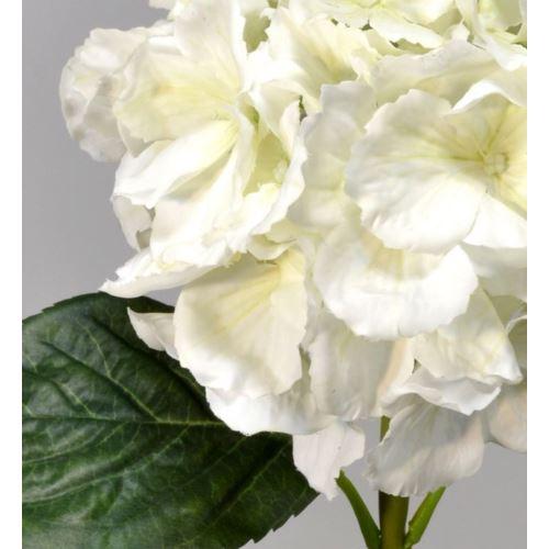 Hortensja gumowana - gałązka 60 cm cream