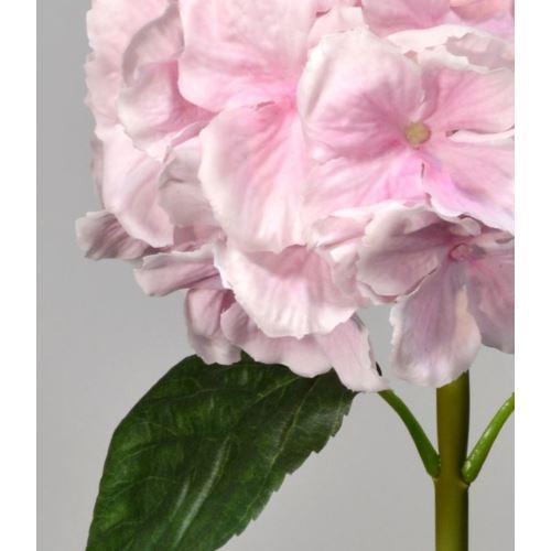 Hortensja gumowana - gałązka 60 cm light pink
