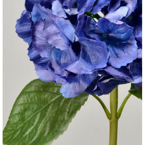 Hortensja gumowana - gałązka 60 cm navy blue