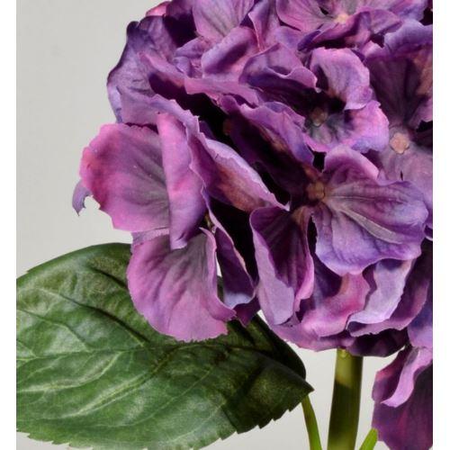 Hortensja gumowana - gałązka 60 cm violet
