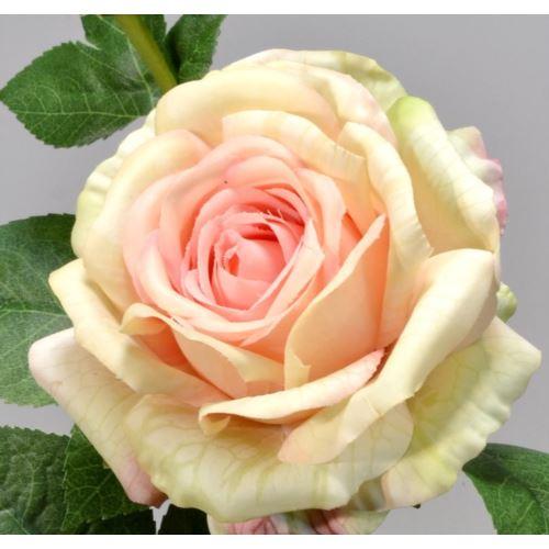 Róża gumowana - gałązka 65 cm lt pink