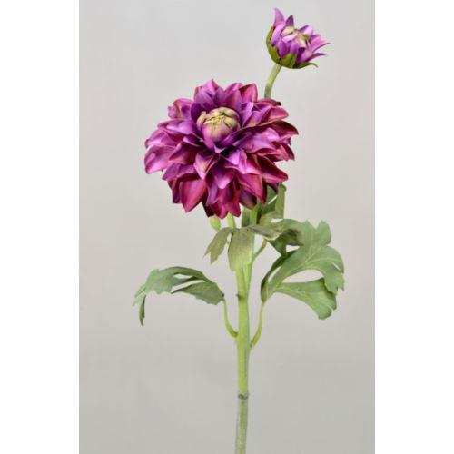 Dalia gumowa - gałązka 61 cm purple