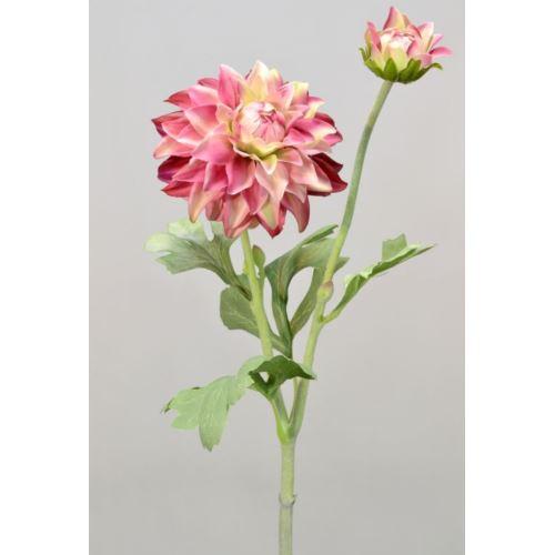 Dalia gumowa - gałązka 61 cm pink