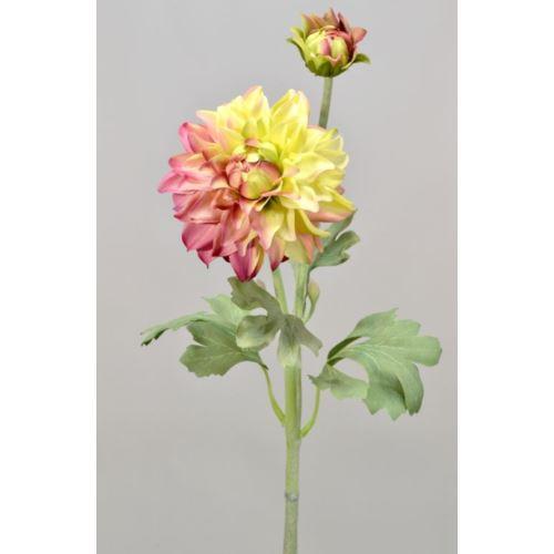 Dalia gumowa - gałązka 61 cm fuchsia/green