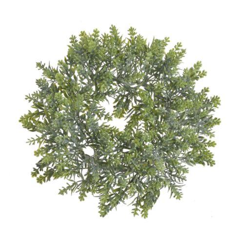Wianek z drobnymi gałązkami 24cm powder green