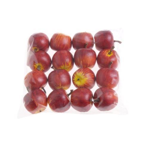 Jabłuszka sztuczne mini 3,5cm 16szt/pacz dk red