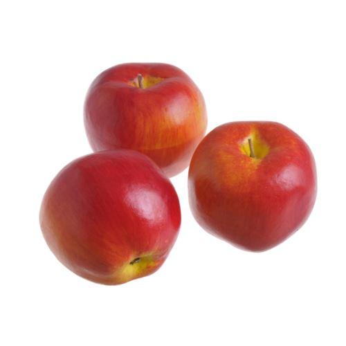 Jabłko sztuczne 8cm 3szt/pacz. red orange
