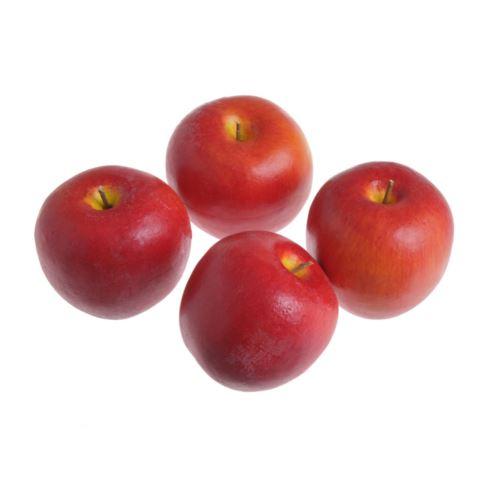 Jabłko sztuczne 7cm 4szt/pacz red