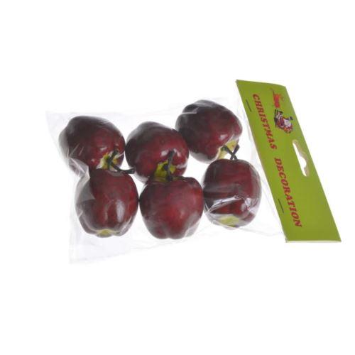 Jabłka 5cm 6szt/paczka red