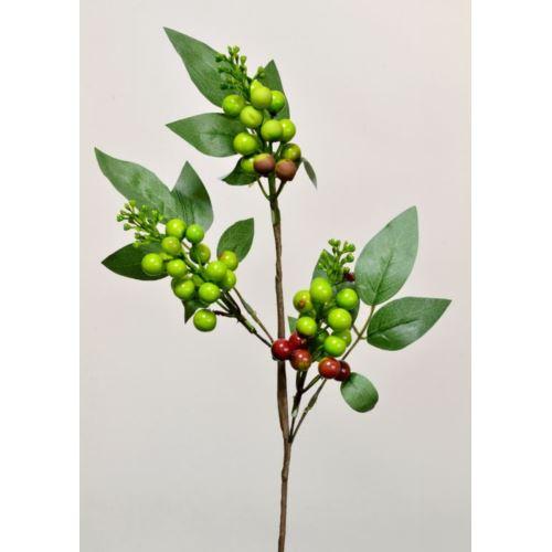Gałązka z owocami 53cm CV06229 green