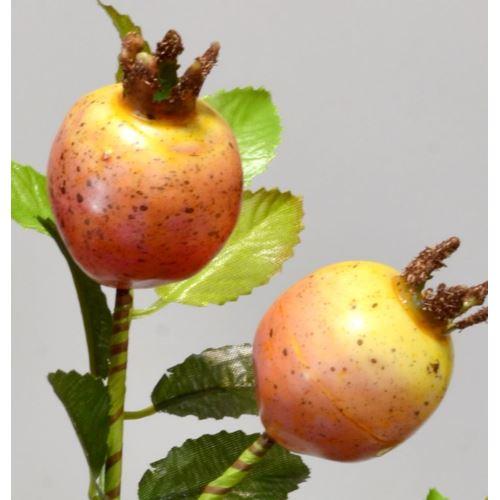 Dzika róża gałązka 36 cm orange