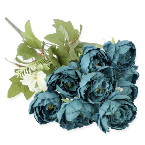 BUKIET PEONIA MINI 44CM /0141 DK BLUE