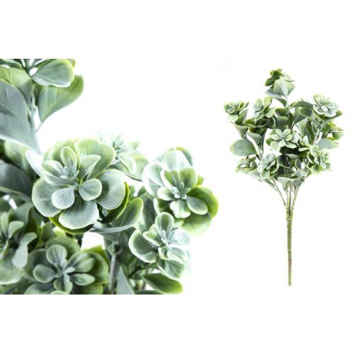 BUKIET SUKULENT PLASTIC 33CM POWDER GREEN