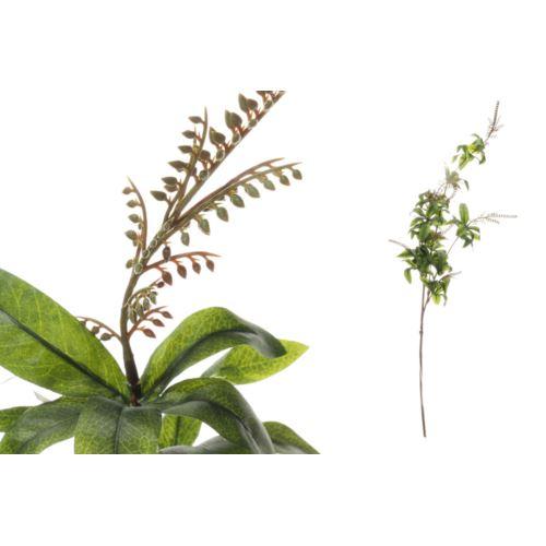 gałązka z zielonymi liśćmi i dodatkami 105CM GREEN