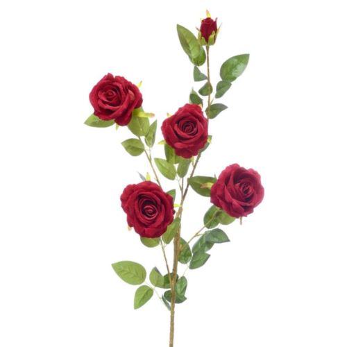 Róża x5 gałązka 115cm velvet red