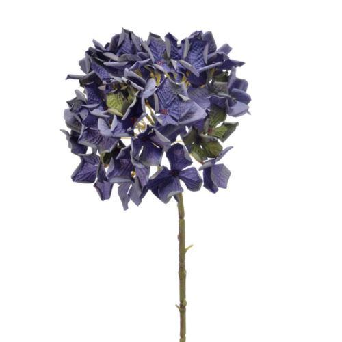 HORTENSJA VINTAGE 56CM DIRTY BLUE VIOLET GREEN