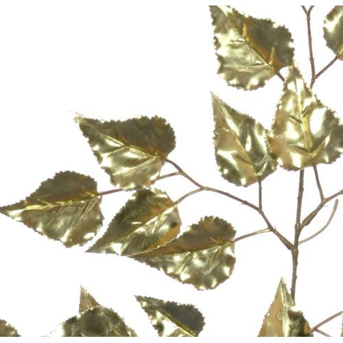 LIŚCIE DEKORACYJNE METALIC BRZOZA 65CM GOLD