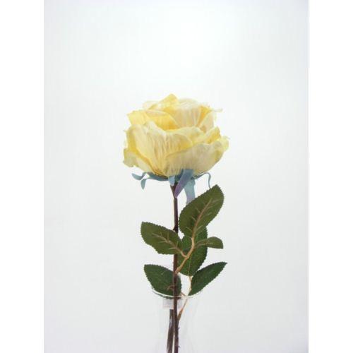 Róża 80cm -sztucz.kwiat yellow