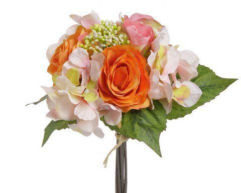 Bukiet róż z hortensją x 9