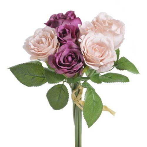 Bukiet roz miks x 7 - sztucz. rosl.