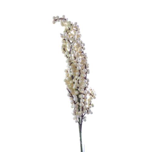 Gałązka z owocami – drobne kuleczki QY201552 white
