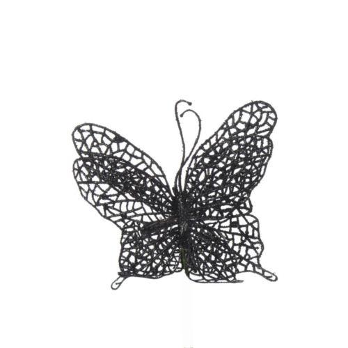 Motyl ażurowy na klipsie black