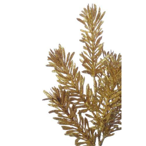 Gałązka brokatowa tuja /1762 gold