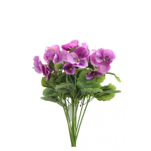 Bratek single pansy 30cm sun417 (12szt/bag) dkpink