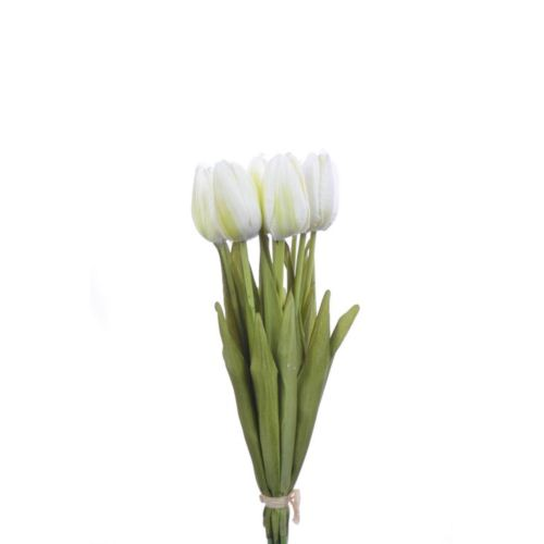 Tulipan 42cm art002 (10szt/bag) white/green