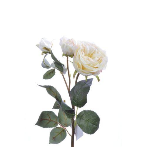 Róża na gałązce 60 cm cream