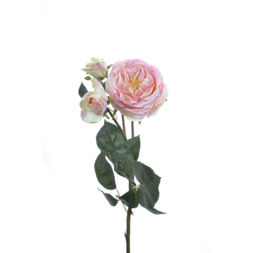 Róża na gałązce 61cm light pink