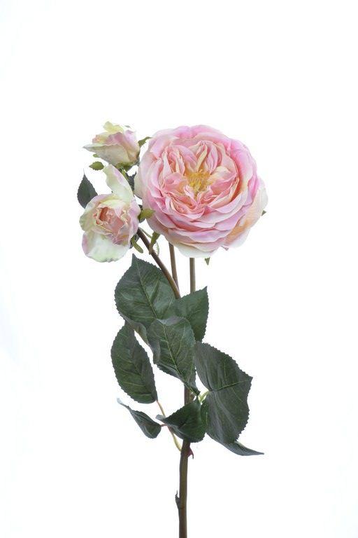 Róża na gałązce 60 cm light pink