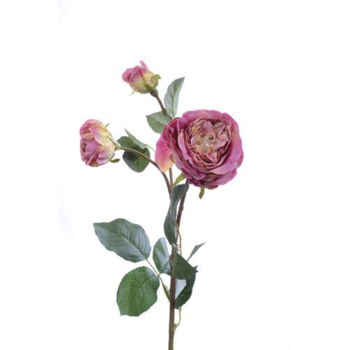 Róża na gałązce 61cm pink
