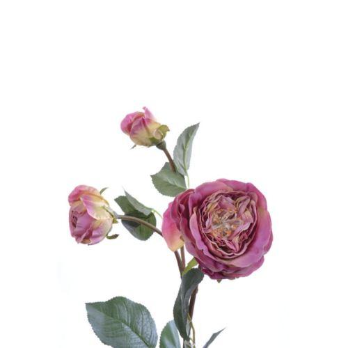 Róża na gałązce 60 cm pink