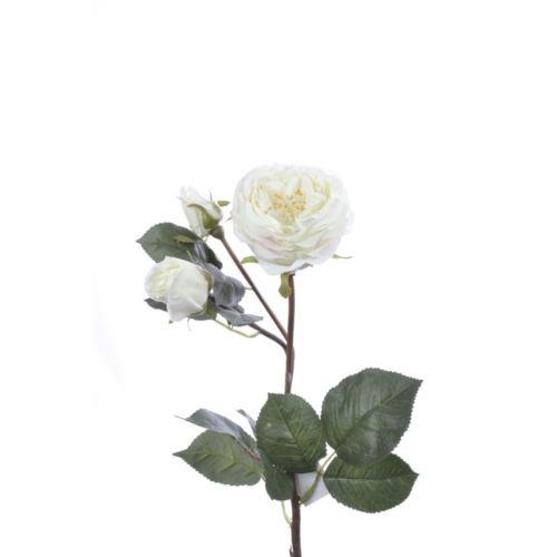Róża drobna na gałązce 62 cm white cream