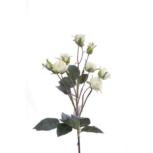 Róża drobna na gałązce 62cm cream