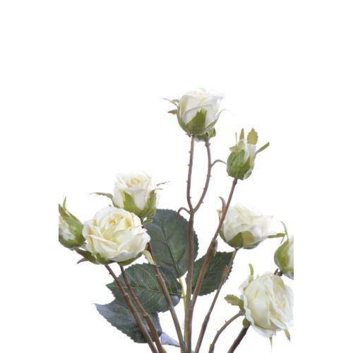 Róża drobna na gałązce 64 cm cream