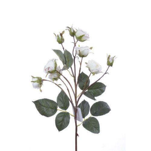 Róża drobna na gałązce 62cm white