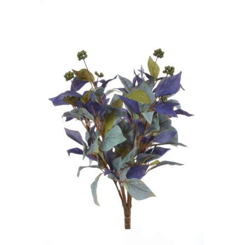 Bukiet liści z dodatkiem 42cm violet-blue