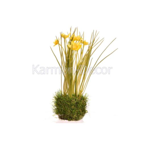 Daffodil in grass 22 cm 35642-33 yellow