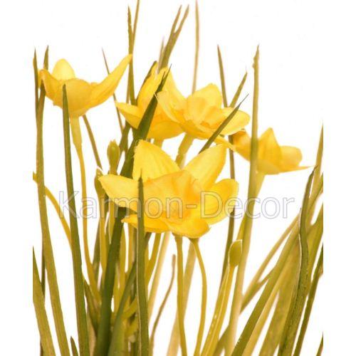 Daffodil in grass 22 cm 35642-33 yellow