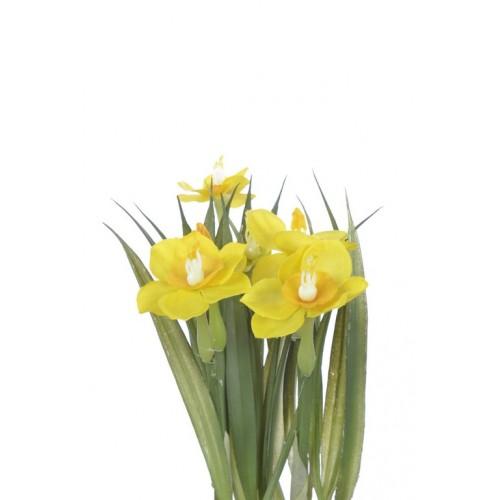 Narcyz w gniazdku 20 cm 35515-33 yellow
